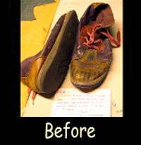 Before Repair of shoe