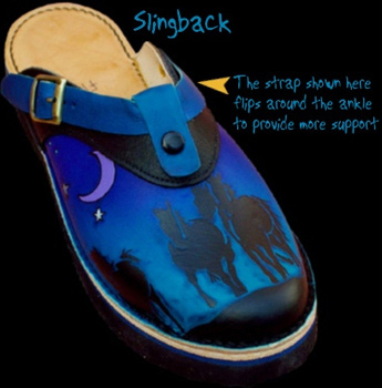 Slingback and Clog with optional strap